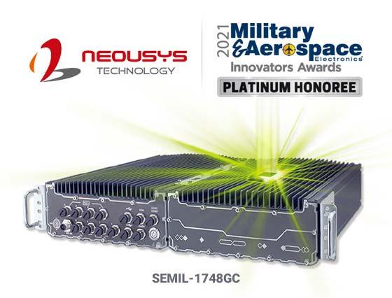 Neousys IP67 Waterproof Fanless GPU Computer Honored by 2021 Military & Aerospace Electronics Innovators Awards